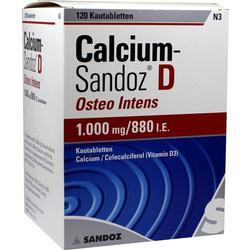CALCIUM SANDOZ D Osteo intens Kautabletten