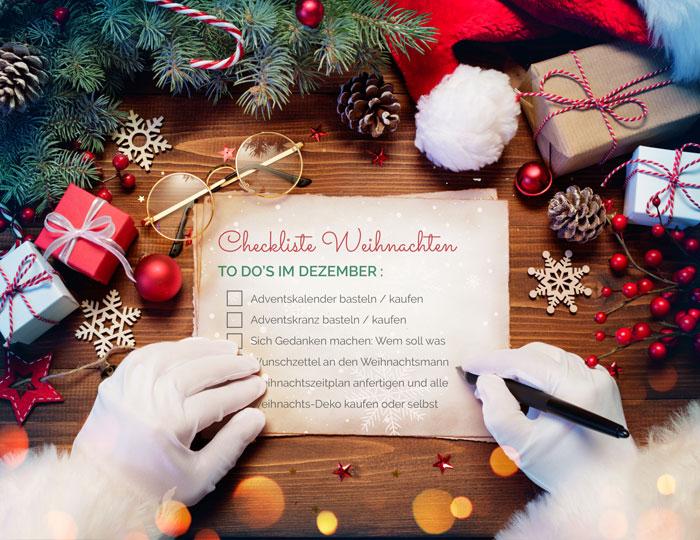 Weihnachtscheckliste