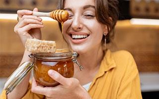 und Honig bei Husten