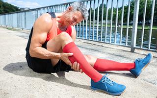 Schmerzhafte Muskelzerrung