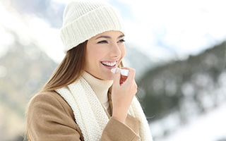 verboten - Lippenpflege bei kalten Temperaturen