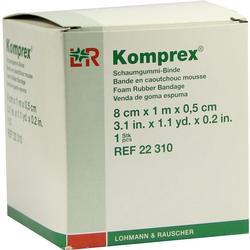 KOMPREX Schaumgummi Binde 8 cmx1 m Stärke 0,5 cm
