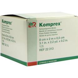 KOMPREX Schaumgummi Binde 8 cmx2 m Stärke 0,5 cm
