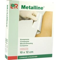 METALLINE Kompressen 10x12 cm steril