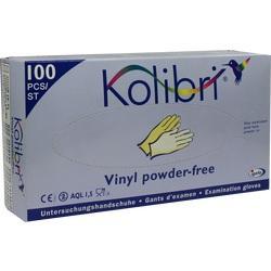 KOLIBRI Untersuch.Handschuhe Vinyl puderfrei S