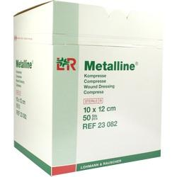 METALLINE Kompressen 10x12 cm steril
