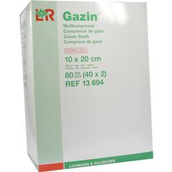 GAZIN Mullkomp.10x20 cm steril 12fach