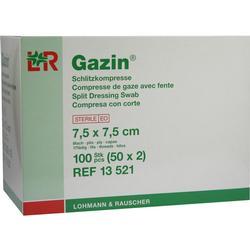 GAZIN Schlitzkompressen 7,5x7,5 cm steril 8fach