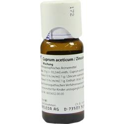 CUPRUM ACETICUM/Zincum valerianicum Mischung