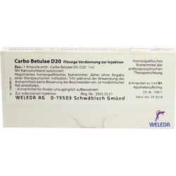 CARBO BETULAE D 20 Ampullen