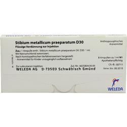 STIBIUM METALLICUM PRAEPARATUM D 30 Ampullen