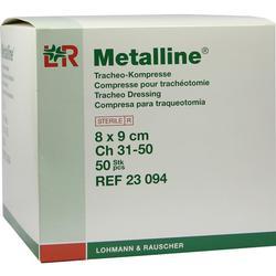METALLINE Tracheo Kompressen 8x9 cm
