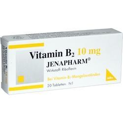 VITAMIN B2 10 mg Jenapharm Tabletten