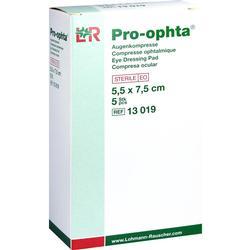 PRO-OPHTA Kompressen 5,5x7,5 cm steril einz.