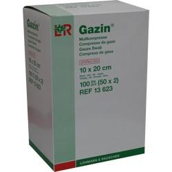 GAZIN Mullkomp.10x20 cm steril 8fach