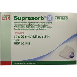 SUPRASORB X+PHMB HydroBalance Wundverb.14x20 cm