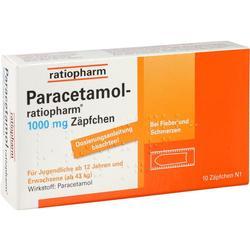 PARACETAMOL-ratiopharm 1.000 mg Zäpfchen