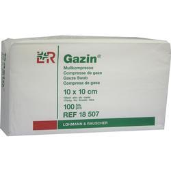 GAZIN Mullkomp.10x10 cm unsteril 12fach Op