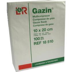 GAZIN Mullkomp.10x20 cm unsteril 12fach Op