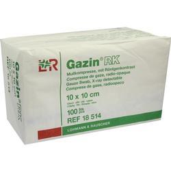 GAZIN Mullkomp.10x10 cm unsteril 12fach RK