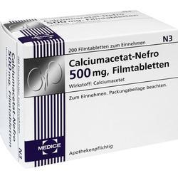 CALCIUMACETAT NEFRO 500 mg Filmtabletten