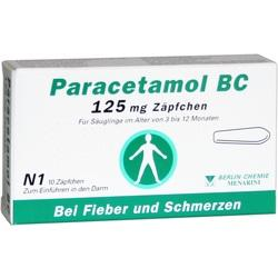 PARACETAMOL BC 125 mg Suppositorien