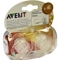 AVENT Schnuller durchsichtig 6-18 Mon.BPA-frei