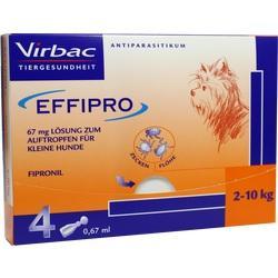 EFFIPRO 67 mg Pip.Lsg.z.Auftropf.f.kl.Hunde