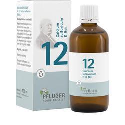 BIOCHEMIE Pfl\u25ger 12 Calcium sulfuricum D 6 Tropf.