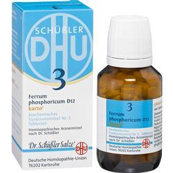 BIOCHEMIE DHU 3 Ferrum phosphoricum D 12 Tab.Karto