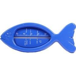 BADETHERMOMETER Kunststoff Fisch blau