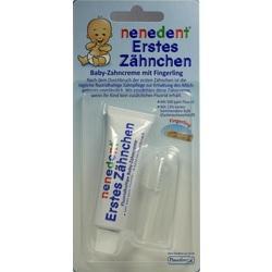 NENEDENT Baby Erstes Zähnchen Zahncr.+Fingerling