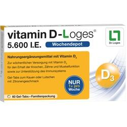 VITAMIN D-LOGES 5.600 I.E. Kautabl.Familienpackung