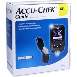 ACCU CHEK Guide Blutzuckermessger\a25t Set mg/dl