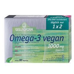 GESUNDFORM Omega-3 vegan Algenöl 1000 mg VegaCaps
