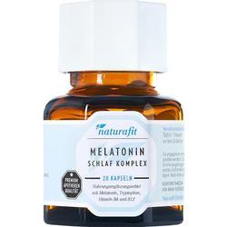 NATURAFIT Melatonin Schlaf Komplex Kapseln