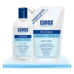 Eubos Wasch- und Duschemulsion BLAU flüßig Flasche-400 ml
