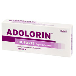 ADOLORIN/IBUFORTE             DRAG 400MG