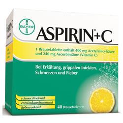 Aspirin plus C Brausetabletten-40 Stück