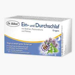 DR.BOEHM                      EIN- U.DURCHSCHLAF DRAGEES  M.BALDRIAN,PAßIONSBLUME  U.MELIßE