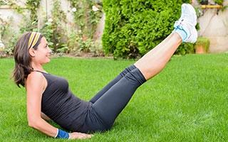 Auch Sport im eigenen Garten macht fit!